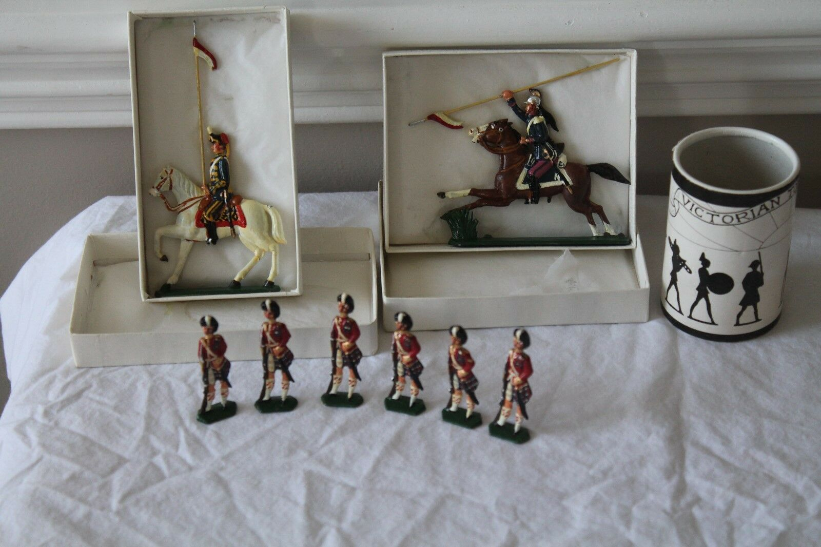 VERY RARE The Seaforth Highlanders Made in England Victorian Metal Toy soldiers