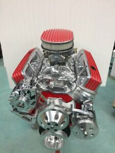 Details about 383 CRATE ENGINE STROKER MOTOR 400-500HP ROLLER TURN KEY PRO  STREET CHEVY SBC