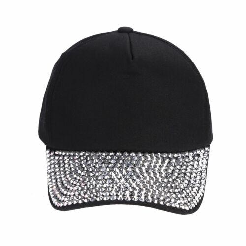 Women Girls Rhinestone Crystal Sparkle Bling Snapback Hat Hip-Hop Baseball Cap