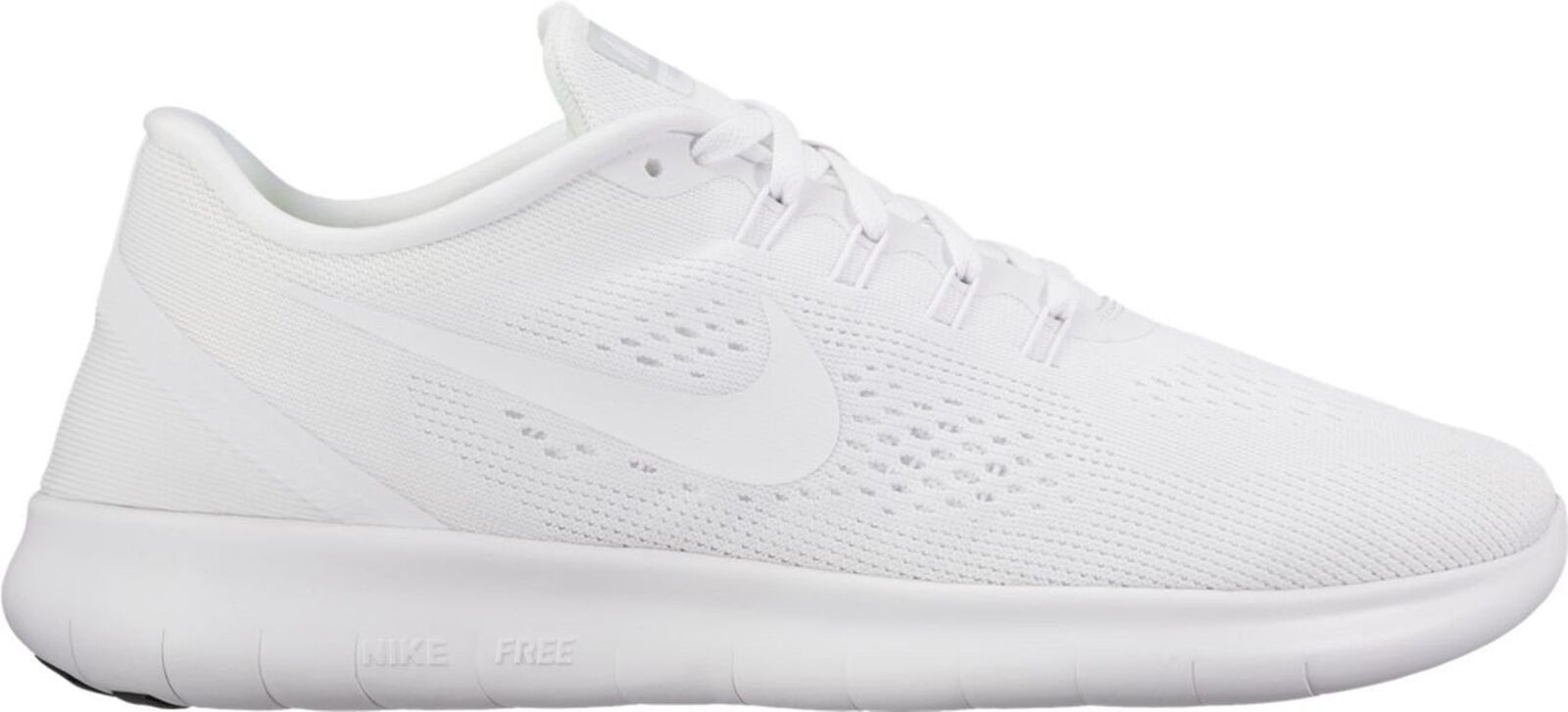 Nike Mens Free RN White/White Nylon Running Shoes 8.5 M US