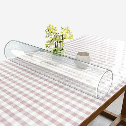2mm Thick Plastic Clear Tablecloth Roll Waterproof Table Cover Catering Events