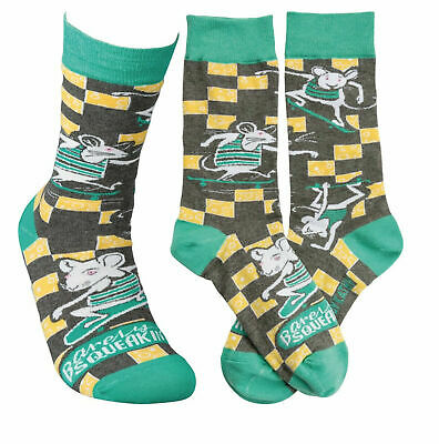 Liberal Pbk Mouse Barely Squeakin' By Novelty Adult Unisex Socks Possessing Chinese Flavors