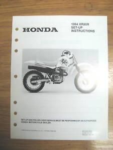 94 honda xr80r set up instructions wiring diagram ebay rh ebay com  1981 honda xr80 wiring diagram
