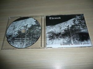 CD-SINGLE-THRONED-WATCHING-THE-LANDS-OF-PURITY-RARE-BLACK-METAL-EP-1997