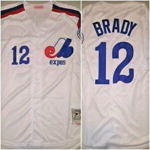 RARE Tom Brady Montreal Expos Mens White Size XL Replica Baseball ...
