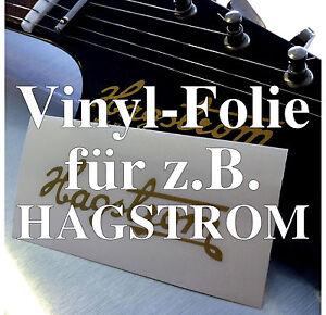 2x Vinyl-Folien Repair-Kit Kopfplatte EPIPHONE matt gold Headstock Decal z.B