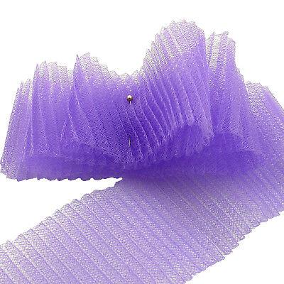 "Light Purple Horsehair Braid 8 cm Crinoline Trim 2 yards Piece  3/"""