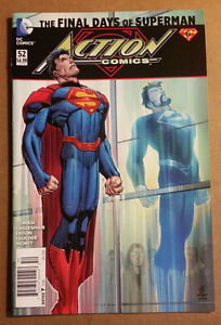 Action-Comics-52-new-52-034-Death-034-of-Superman-News-Stand-Variant-VF-NM-4-99