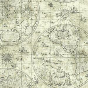 Wallpaper-Traditional-Old-World-Map-Neutral-Colors
