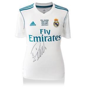 Cristiano Ronaldo Front Signed Real Madrid 2017-18 Home Shirt  Los ... 8ae56672b