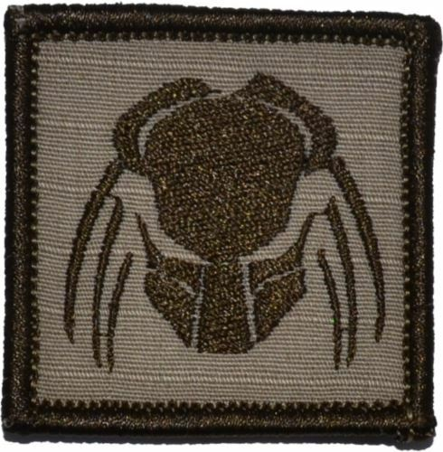 Predator Head 2x2 Military//Morale Patch Hook Backing