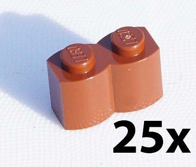 LEGO Lot of 10 Reddish Brown 1x2 Log Bricks