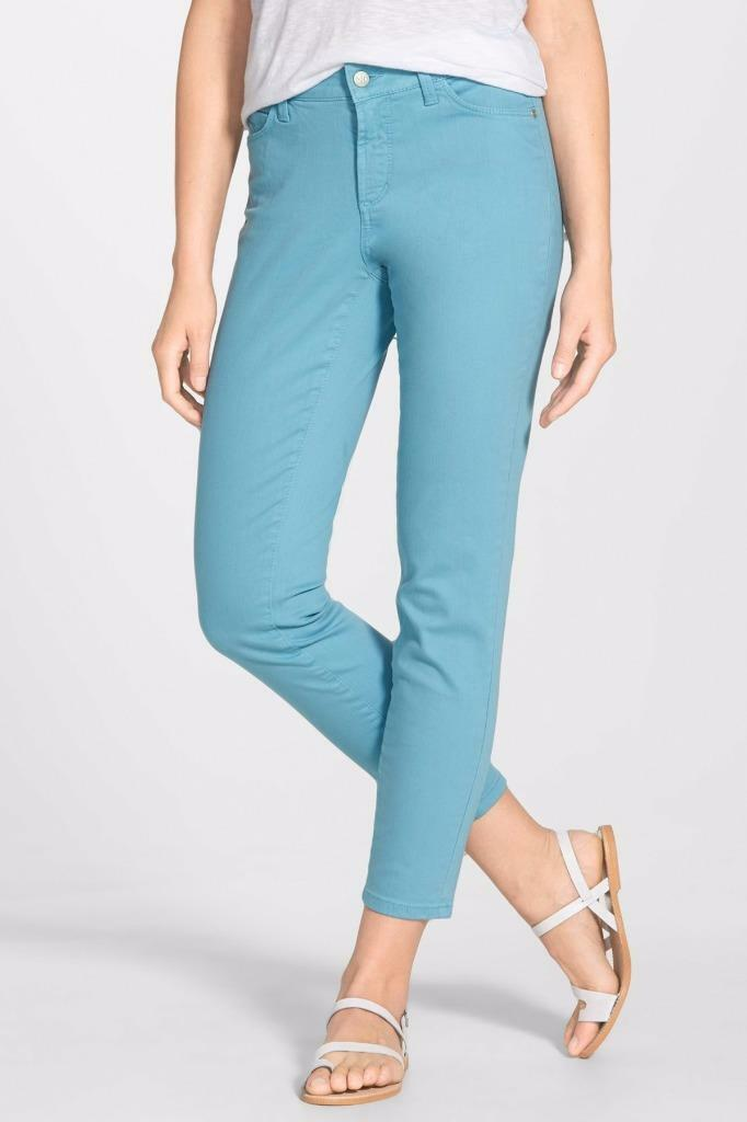 NYDJ Not Your Daughters Jeans CLARISSA Skinny ANKLE pants Mirage bluee 16P 16 P