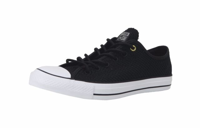 8e8f6d529a98 Converse Shoes Men Women Unisex All Star Chuck Taylor Woven Black White