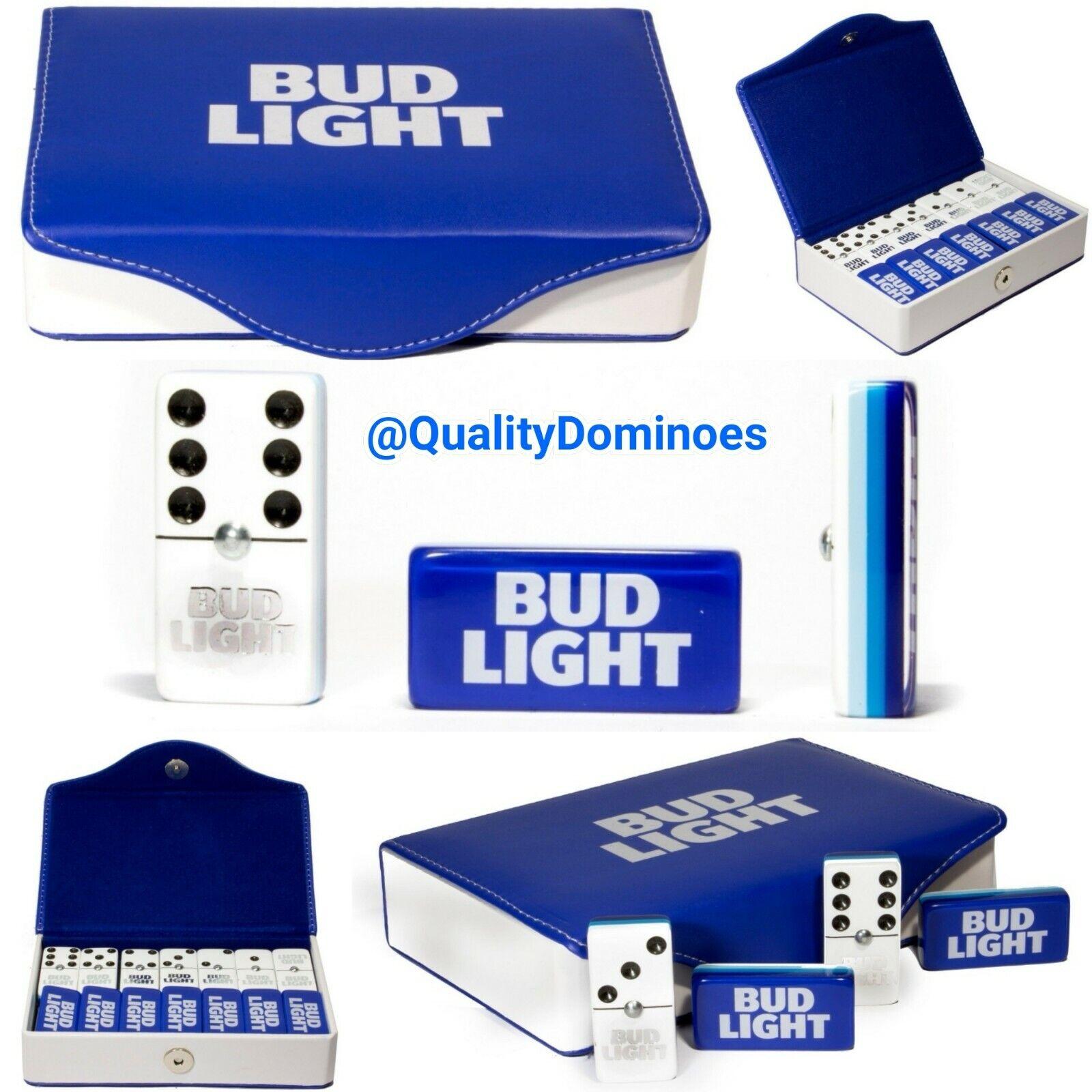 Bud Light Beer Domino Game Set Jumbo Größe Great Hot Gift Dominoes Man Cave