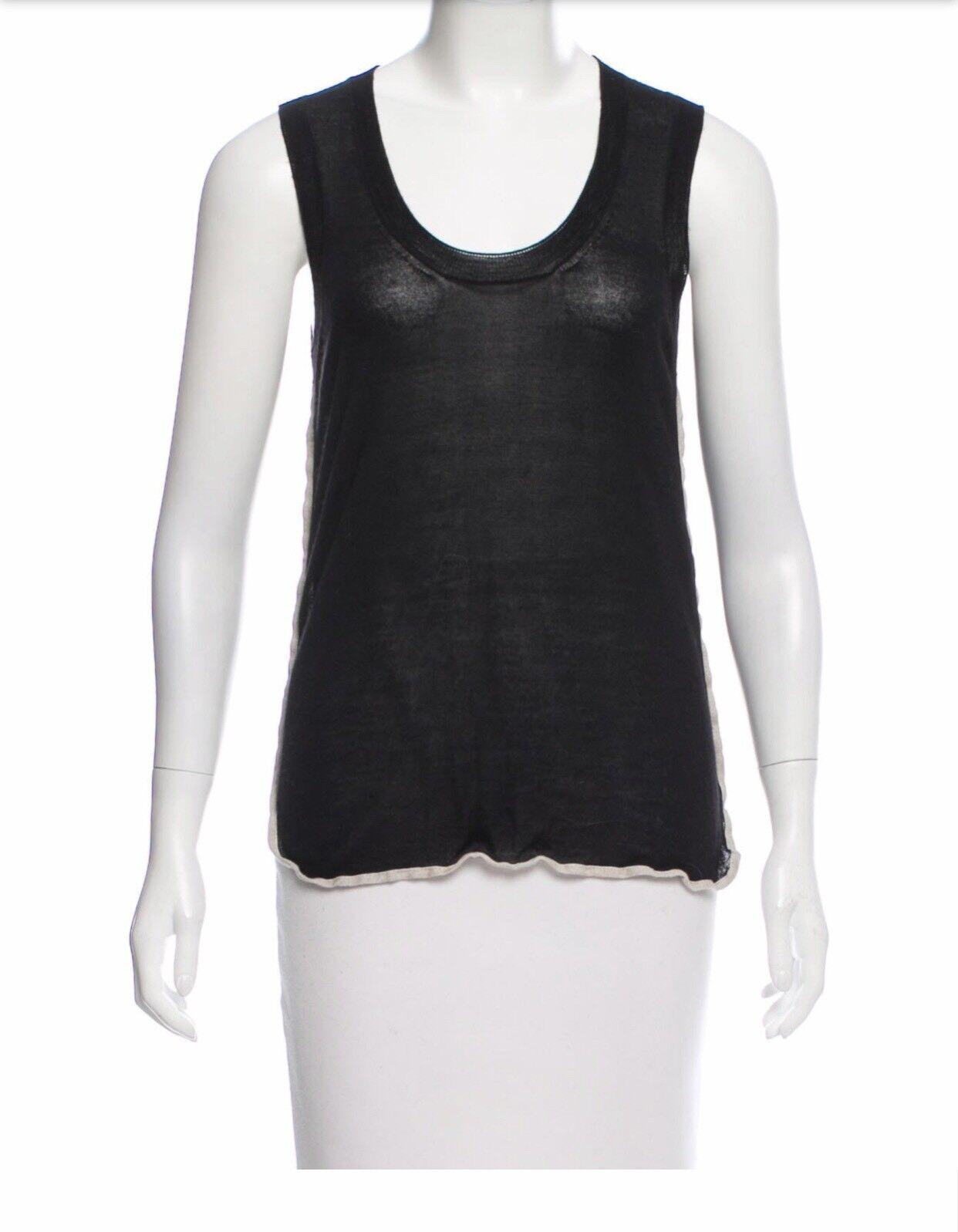 CÉLINE Sleeveless Silk-Cashmere oben Größe  S