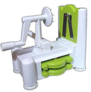 Spirooli-3-in-1-Vegetable-Fruit-Spiraliser-Raw-Food-Spiralizer-Slicer-amp-Turner