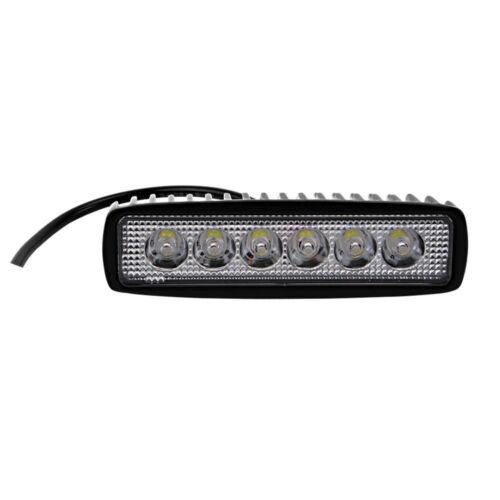 "2X 6/""inch 18W Single Row LED Work Light Slim Spot Offroad Driving UTE Jeep Truck"