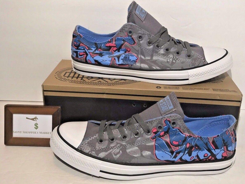 Converse All para hombre Chuck Taylor All Converse Star Ox Lienzo Graffiti carbón Raro Nuevo 9d713a