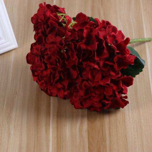 5 Heads Artificial Floral Flowers Fake Hydrangea Bloom Bouquet Wedding Decor UK