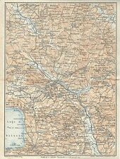 Carta geografica antica ORVIETO e LAGO di BOLSENA TCI 1923 Old antique map