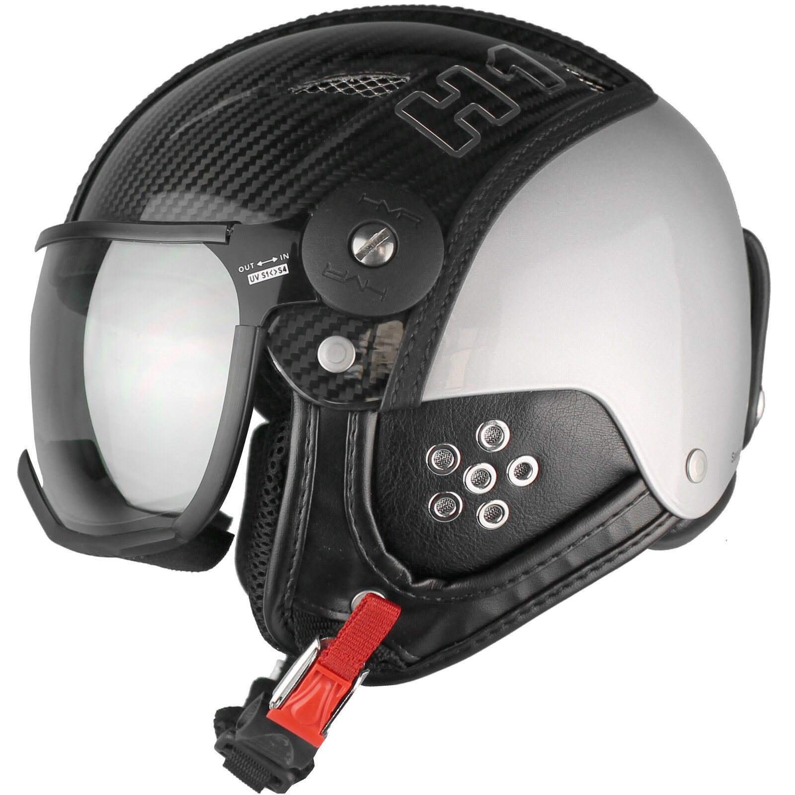 Hmr H1 Casco con Visera de Snowboard Esquí Protección Carbon