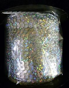 6mm flat spangle sew on per 10yds Sequin Trimmings Single Strand Sequin Trim