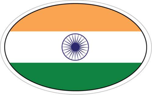 indien drapeau dans un ovale autocollant en vinyle-Asie du Sud 16 cm x 9cm Inde
