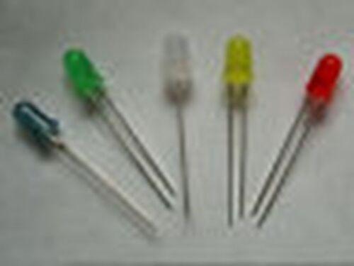 LED Sortiment  10 Stück je Einheit  Farbe wählbar Leuchtdioden diffus 5mm rund