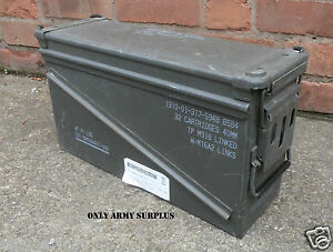 Image Is Loading US Army Large Metal Ammo Box Tool Box