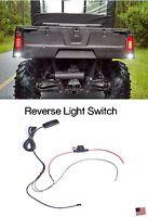 Polaris Ranger Led Back-up Reverse Light Atv Rzr Sportsman Fused Switch Kit