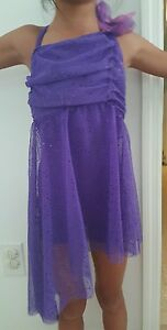 Weissman Dance Costume Purple sparkles size Child Small