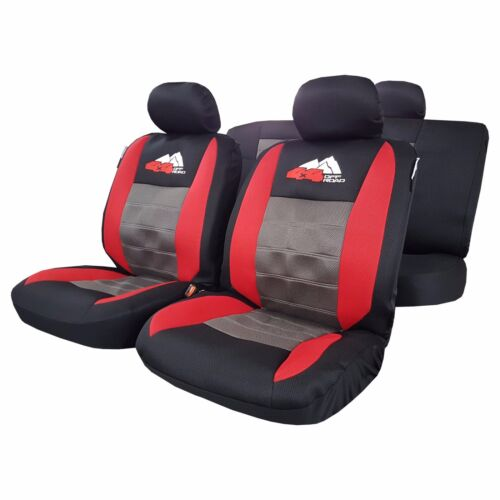 9pcs elite airflow mesh 4x4 embroidery red black car seat cover for tacoma trd