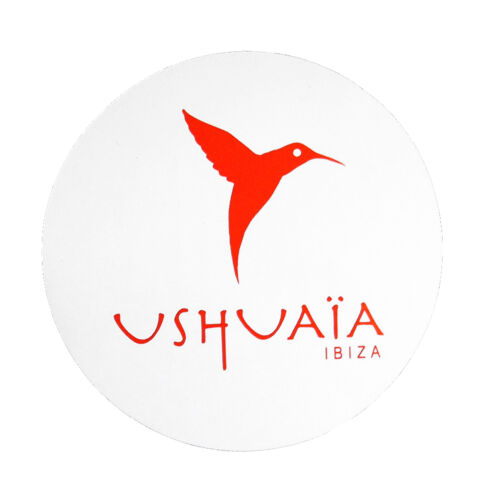 OFFICIAL Ushuaia Ibiza Club Sticker White Hummingbird Logo Avicii Ants Hardwell