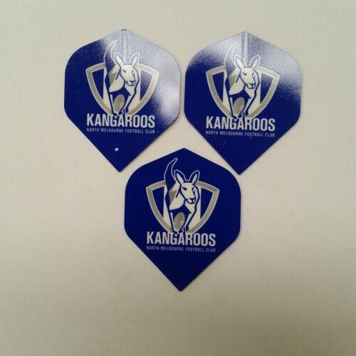 AFL Licensed DART FLIGHTS x 3 North Melbourne KANGAROOS