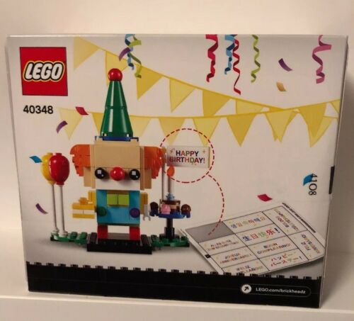 LEGO 40348 BrickHeadz Birthday Clown New