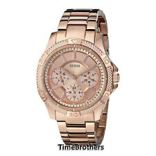 NEW GUESS WATCH for Women Multi-Function Rose Gold Tone Stainless Steel U0235L3