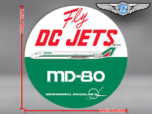 OLD ALITALIA LIVERY ROUND MD80 MD 80 FLY DC JETS DECAL / STICKER