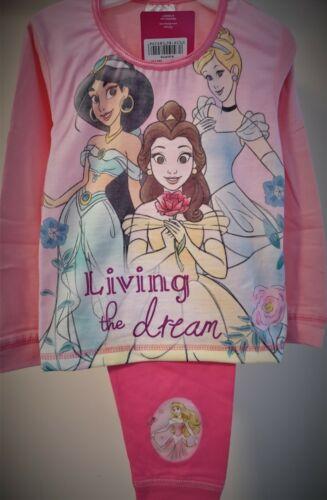 Disney Princess Pyjamas Girls Pj/'s Jasmine Cinderella Pyjama Set T2TC630 S30