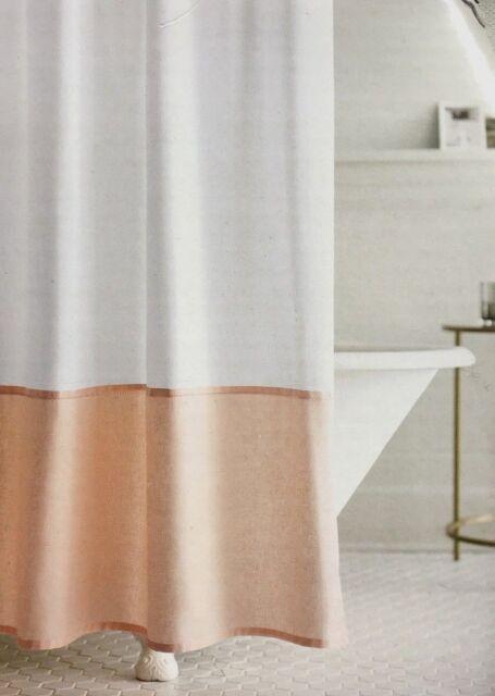 Fieldcrest Target Peach Oxford Stitch Fabric Shower Curtain New Shelf Pull