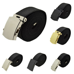 "72 Inches 25 Color Canvas Military Web Belt /& BIG /""A/"" Silver Buckle 48 54 60"