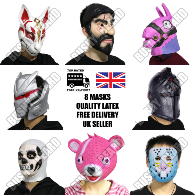 Maschera Di Lattice Party Fox DRIFT John WICK LLAMA Bunny CAVALIERE TESCHIO WOLF quindici giorni UK