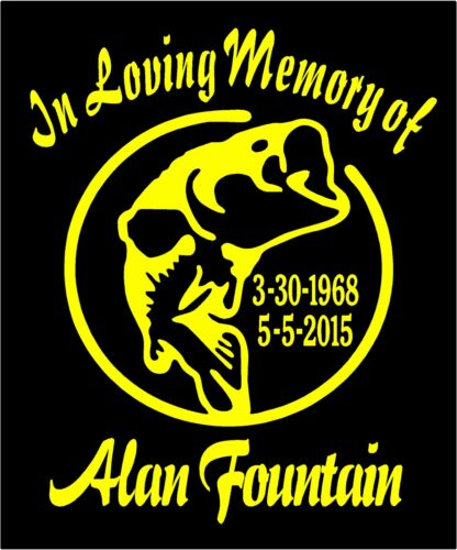 In Loving Memory Of Decals Two Personalized Bass Fishing Car Window Vinyl Decal