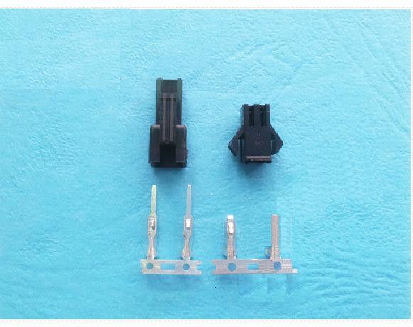 10sets JST Connector Plug 2-Pin Female ,Male ,Crimps New Black