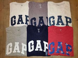GAP-homme-a-encolure-ras-du-cou-a-manches-courtes-Logo-T-shirt-Graphique-T-Shirt-nouvelle-S-M-L-XL