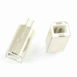 20Pcs USB 2.0 Type A 4 Pin Male Panel Mount Jack Connector For DIY
