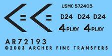 Archer AR72193 1/72 Dry Transfers of USMC M1A1 Abrams in Iraq (IOF)