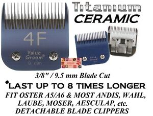Pro Titane Céramique 4f 4fc Blade Fitmany Oster,andis ,wahl Ongle Animaux Soins