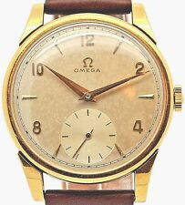 Gents Omega 18k Gold mechanical wind sub dial gents watch Cal 265