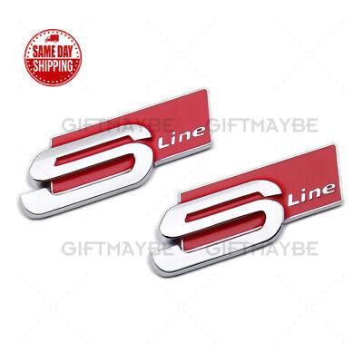 Audi Sport S-LINE Side Fender Marker Logo Emblem Decal Badge Decoration 2Pcs OEM